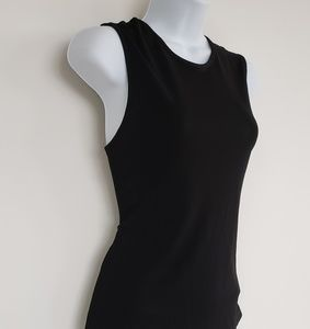 GIANNI VERSACE COUTURE black sleeveless top S